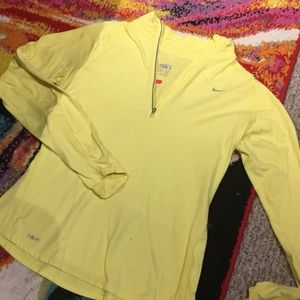 Nike Dry Fit Yellow Pullover for Running